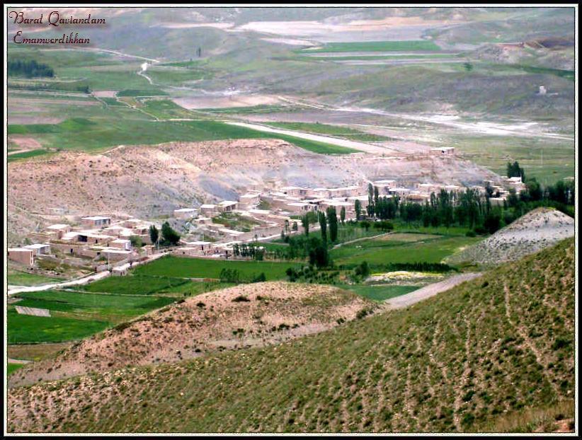 نمایی از روستای اماموردیخان - بخش بالایی - بهار 1389